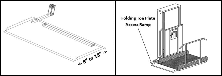 Wheelchair Platform Lift Toe Plate